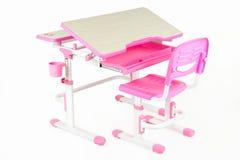 Розовый стол школы Стоковая Фотография