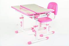 Розовый стол школы Стоковое Фото