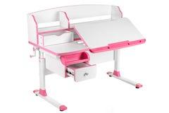 Розовый стол школы Стоковые Изображения