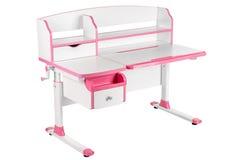 Розовый стол школы Стоковые Изображения RF