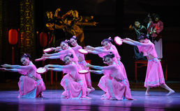 Розовый тамбурин- поступок сперва событий драмы-Shawan танца прошлого Стоковое фото RF