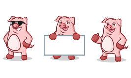 Розовый талисман свиньи счастливый Стоковое Изображение RF