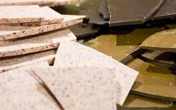 Розовый, темный и коричневый milky шоколад Стоковое Изображение RF