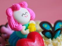 Розовый торт куклы конфеты Стоковое фото RF