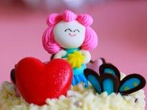 Розовый торт куклы конфеты Стоковая Фотография RF