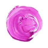 Розовый фиолетовый текстурированный акриловый круг Пятно Watercolour на белой предпосылке бесплатная иллюстрация