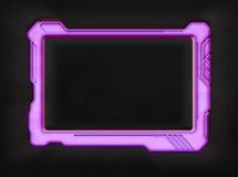 Розовый футуристический прибор таблетки экрана Стоковое Изображение