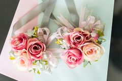 Розовый цветок для wedding украшения Стоковое Изображение