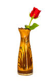 Розовый цветок на вазе Стоковое Фото