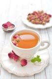 розовый чай Стоковые Фото