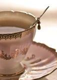 розовый чай стоковое фото