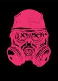 Розовый череп мускуса газа с шлемом Стоковая Фотография RF