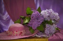 Розовый шлем Стоковое Фото