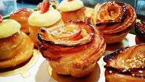 Розовый яблочный пирог Стоковые Изображения RF