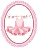 Розовый ярлык балетной пачки Стоковое Изображение