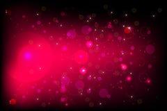 Розовый BG с bokeh Иллюстрация вектора