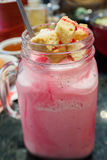 Розовый milkshake Стоковое фото RF
