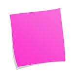 розовый postit Стоковые Фотографии RF