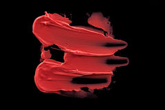 Розовый smudge губной помады персика Стоковая Фотография