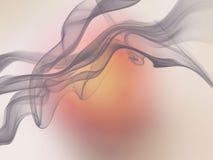 Розовым бежевым предпосылка желтого коричневого цвета запачканная конспектом Стоковое фото RF