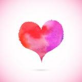 Розовым сердце покрашенное вектором Стоковое Изображение