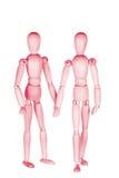 2 розовых деревянных маленьких люд Стоковое Изображение RF