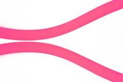 2 розовых кривой Стоковое фото RF