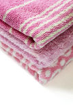 Розовые полотенца Стоковое фото RF