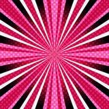 Розов-пурпуровая предпосылка с лучами Стоковая Фотография