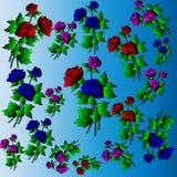 Розы Ð olored ¡ стоковые изображения