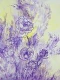 Розы лаванды Стоковые Изображения RF
