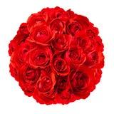 Розы аранжированные в округленном букете Стоковая Фотография