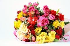 розы букета пестротканые Стоковые Изображения