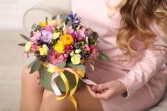 Розы в коробке Стоковая Фотография RF