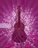 розы гитары Стоковая Фотография