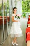 розы девушки невесты милые стоковое изображение rf