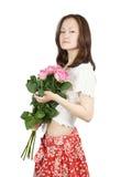 розы девушки розовые молодые Стоковые Изображения RF