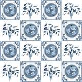Розы заплатки ретро и ткань glicinia флористическая текстурируют скороговорку Стоковая Фотография RF