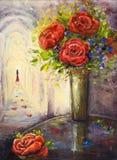 Розы и женщина Стоковые Изображения