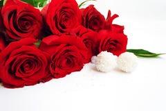 Розы и конфета Стоковые Фото