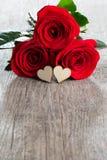 Розы и сердца Стоковое фото RF