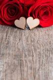Розы и сердца Стоковая Фотография RF