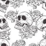Розы и черепа Стоковые Изображения