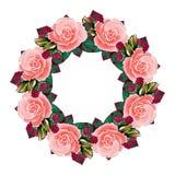 Розы и buterflu illustrtion вектора рамки цветков стоковое фото