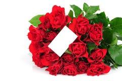 розы карточки букета Стоковая Фотография