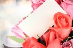 розы карточки Стоковые Изображения