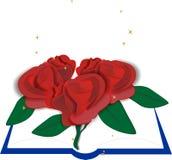 розы книги Стоковое Изображение