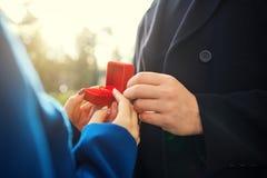 розы кольца предложения замужества захвата диаманта букета Стоковое фото RF