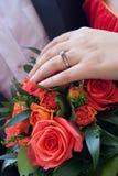 розы красного цвета невесты букета Стоковое Фото