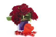 розы красного цвета сердец Стоковое фото RF